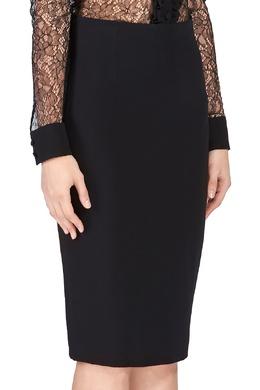 Черная юбка-карандаш со сложным кроем Alexander McQueen 384177538