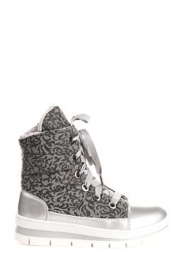 Ботинки из серебристого текстиля с принтом Jog Dog 1211177634
