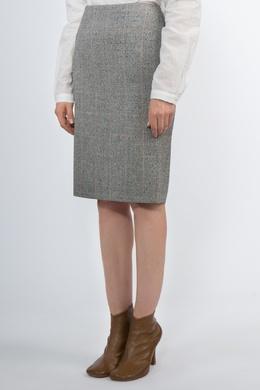 Прямая юбка в клетку Alexander McQueen 384177494