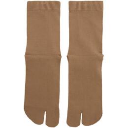 Maison Margiela Tan Gauge 12 Jersey Socks S50TL0024 S17264