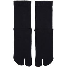 Maison Margiela Navy Gauge 12 Jersey Socks S50TL0024 S17264