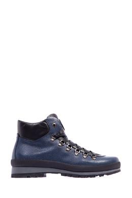Синие кожаные ботинки на шнуровке Bogner 1936177225