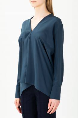 Синяя блуза асимметричного кроя Alexander Terekhov 74177934