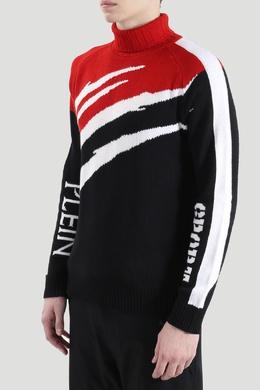 Разноцветный свитер с воротником-стойкой Plein Sport 1954178230