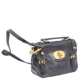 Miu Miu Black Leather Mini Crossbody Bag