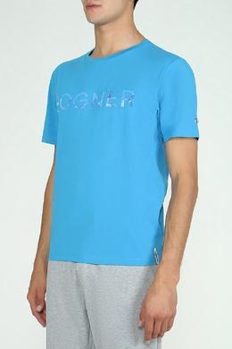 Голубая футболка с логотипом Bogner 1936179197