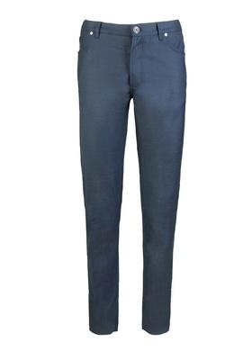 Брюки из черно–синего меланжа Brunello Cucinelli 1675179075