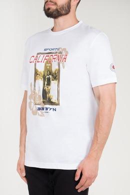 Белая футболка с принтом Bogner 1936178788