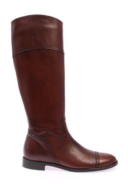 Сапоги коричневого цвета с перфорацией Pertini 2493178188