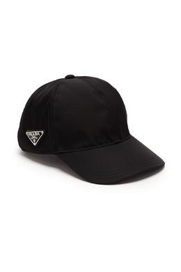 Черная бейсболка из текстиля Prada 40179481