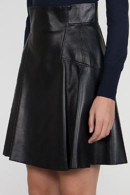 Черная кожаная юбка Alexander McQueen 384179415