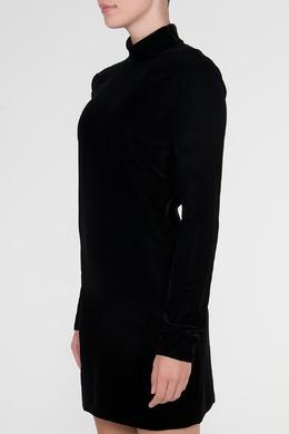 Черное бархатное платье с открытой спиной Saint Laurent 1531179390