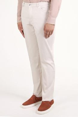 Белые брюки на притачном поясе Brunello Cucinelli 1675179836