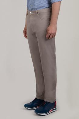 Бежевые брюки средней посадки Brunello Cucinelli 1675180005