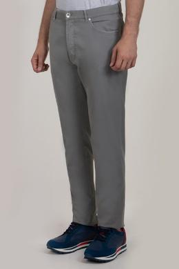 Серые брюки прямого кроя с карманами Brunello Cucinelli 1675180017