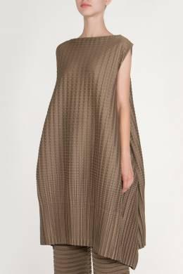 Костюм цвета хаки из ткани с узорно-рельефной фактурой Issey Miyake 2382179998