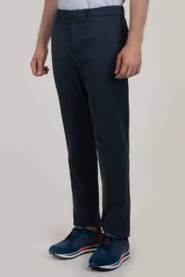 Темно-синие брюки прямого кроя Brunello Cucinelli 1675180016