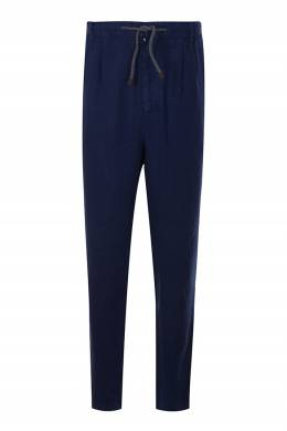 Синие брюки на кулиске Brunello Cucinelli 1675180232