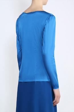 Синяя атласная блуза Alexander Terekhov 74180762