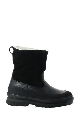 Комбинированные ботинки с белым мехом Stone Island 1701181357