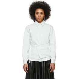 Mm6 Maison Margiela Off-White Denim Crossover Apron Shirt S52DL0130 S30460