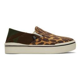 R13 Multicolor Cheetah Camo Sneakers R13S0155-974