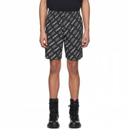 Vetements Black STAR WARS Edition All Over Logo Shorts USW21PA031