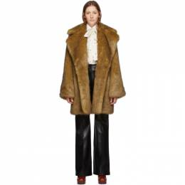 Gucci Tan Faux-Fur Coat 599091 XEAB3