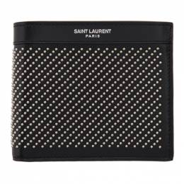 Saint Laurent Black Studded East/West Wallet 3613200VGUE