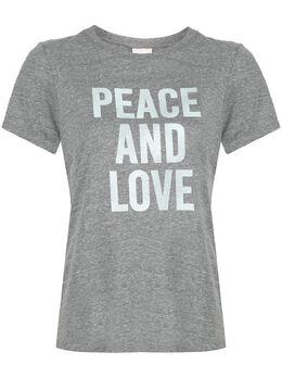 Cinq A Sept футболка Peace And Love ZT341989Z