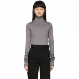 Lemaire Grey Twisted Second Skin Turtleneck W 201 JE286 LJ053
