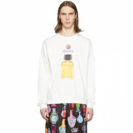 Versace Off-White Perfume Sweater A86017 A231242