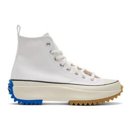 J.W. Anderson White Converse Edition Run Star Hybrid Hi Sneakers 164665C