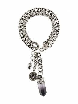 Alexander McQueen цепочный браслет с кварцем 611302I562Y