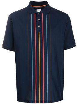 Paul Smith рубашка-поло с контрастными полосками M1R937TA01012