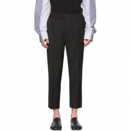 Ami Alexandre Mattiussi Black Wool Cropped Trousers P20HT206.201