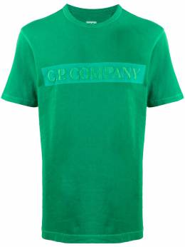 C.P. Company футболка с вышитым логотипом 08CMTS150A005674O