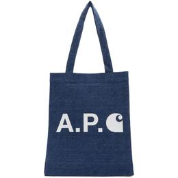 A.P.C. Indigo Carhartt WIP Edition Tote COEDZ-M61435