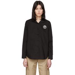 Mm6 Maison Margiela Black Back Flap Shirt S52DL0118 S47294