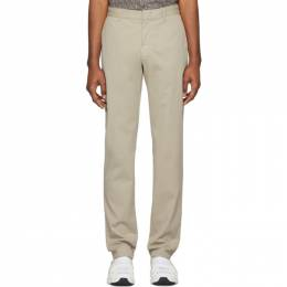 Z Zegna Beige Slim Fit Trousers VU148 ZZ360