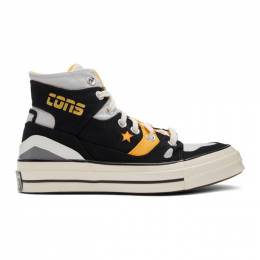 Converse Black and Yellow Chuck 70 E260 Sneakers 167055C