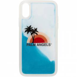 Palm Angels Blue and Mutlicolor Sunset iPhone 11 Pro Case PMPA008S207920160188