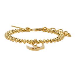 MCQ by Alexander McQueen Gold Swallow Bracelet 597466R1J99