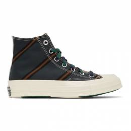 Converse Green and Orange Chuck 70 High Sneakers 167131C