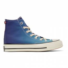 Converse Blue and Purple PrimaLoft Chuck 70 High Sneakers 168112C