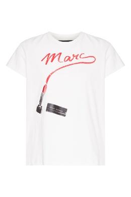 Белая футболка с принтом St. Mark's The Marc Jacobs 167182432