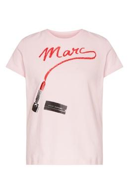Розовая футболка с принтом St. Mark's The Marc Jacobs 167182426