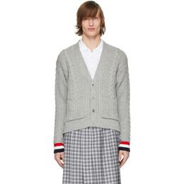 Thom Browne Grey Aran Classic Cardigan MKC270A-00014