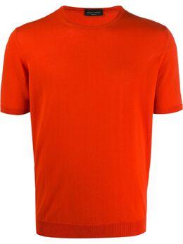 Roberto Collina футболка тонкой вязки с круглым вырезом RC10021