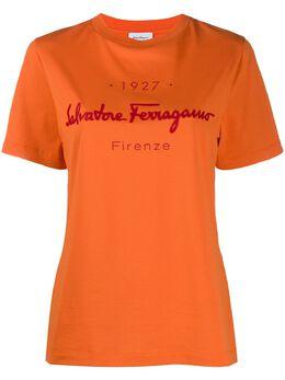 Salvatore Ferragamo футболка с логотипом 727086001002